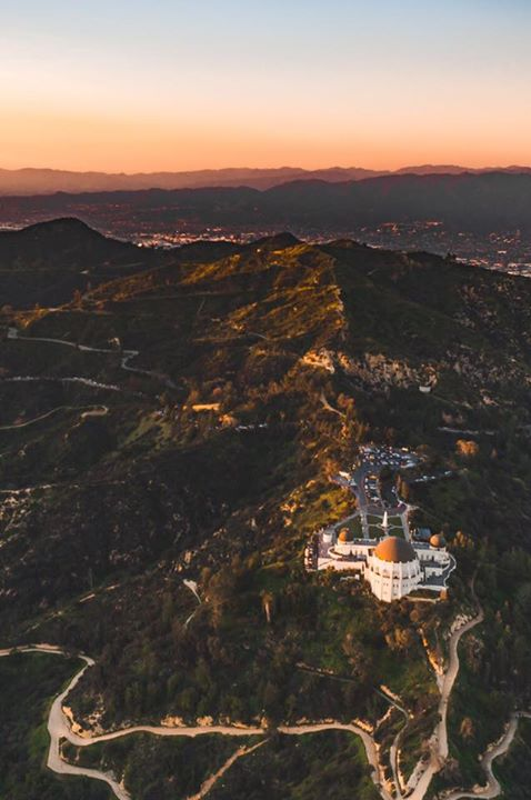Los Angeles Griffith Observatory via losangelesaerial   California Feelings