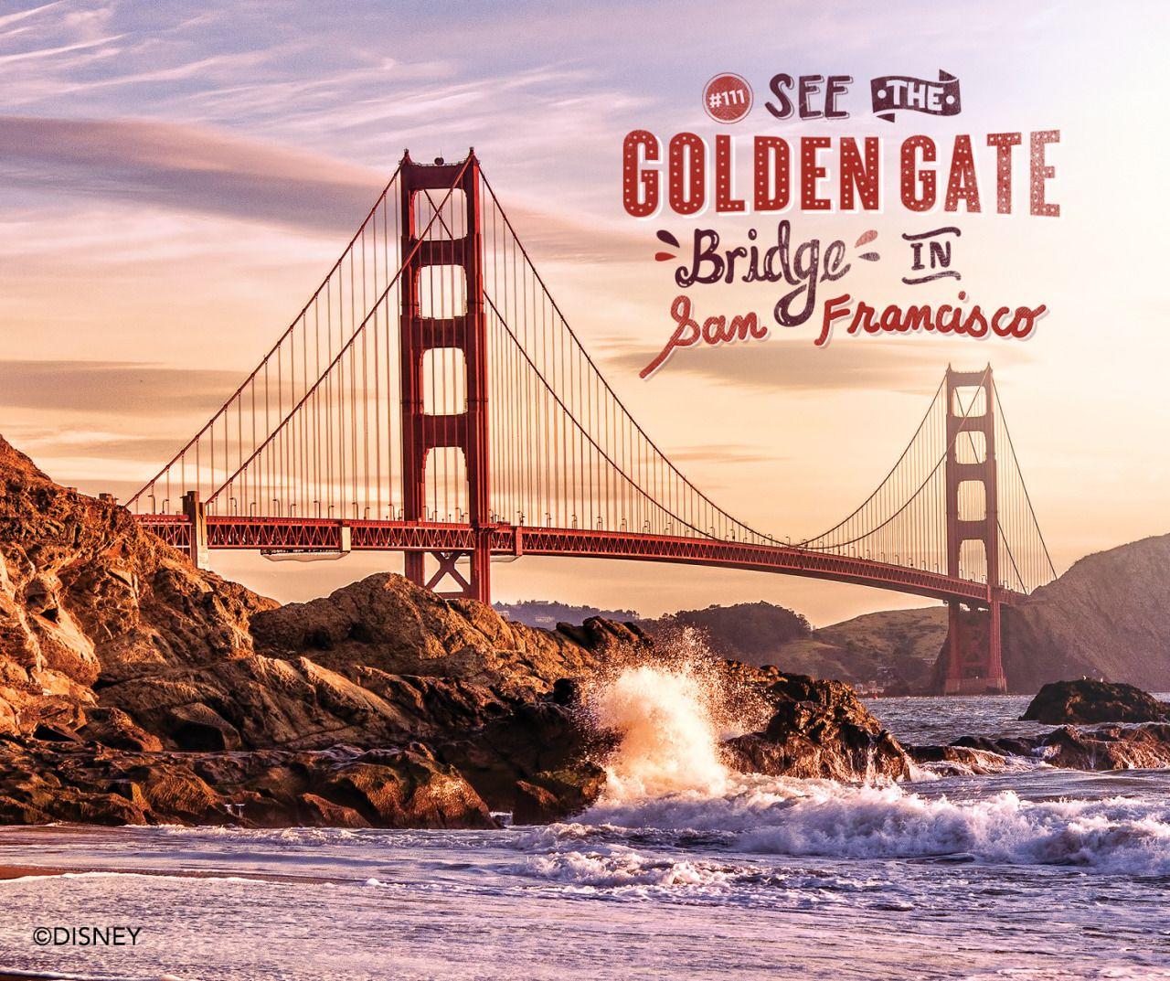 See The Golden Gate Bridge in San Francisco