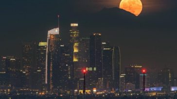 Supermoon over Downtown Los Angeles by @discoverLA